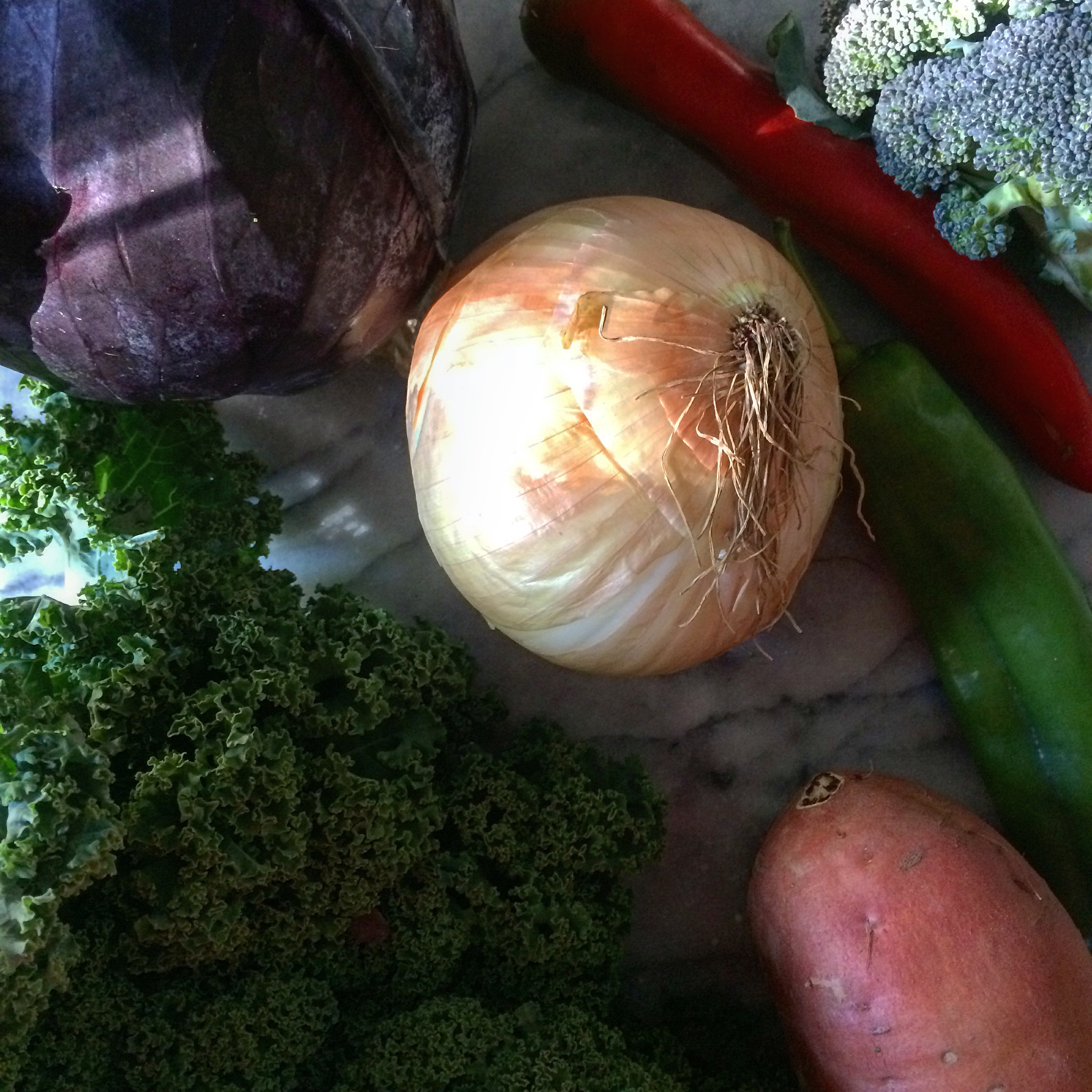 Some organic, local, super fresh veggies from the CSA I won at work!