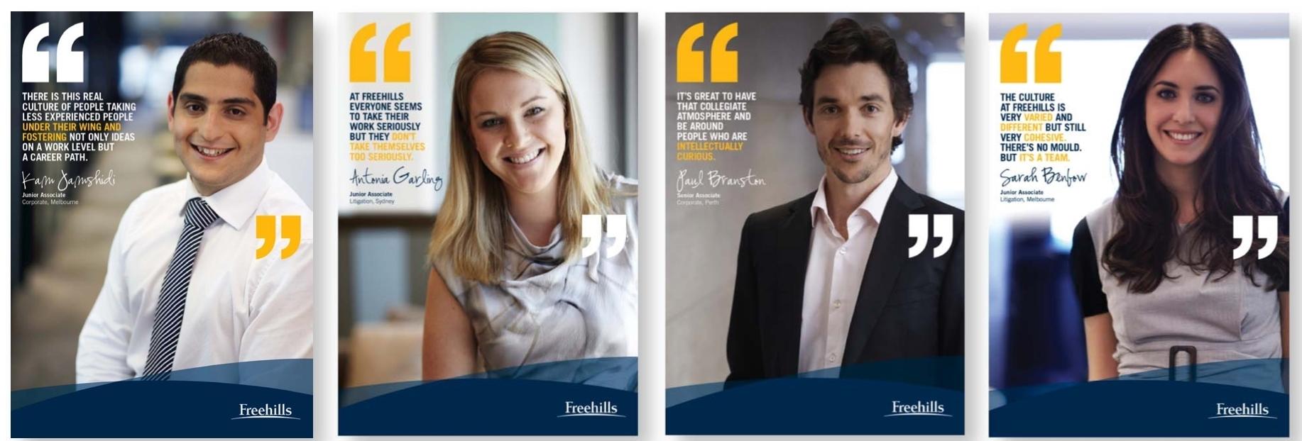 Freehills – Graduate recruitment campaign