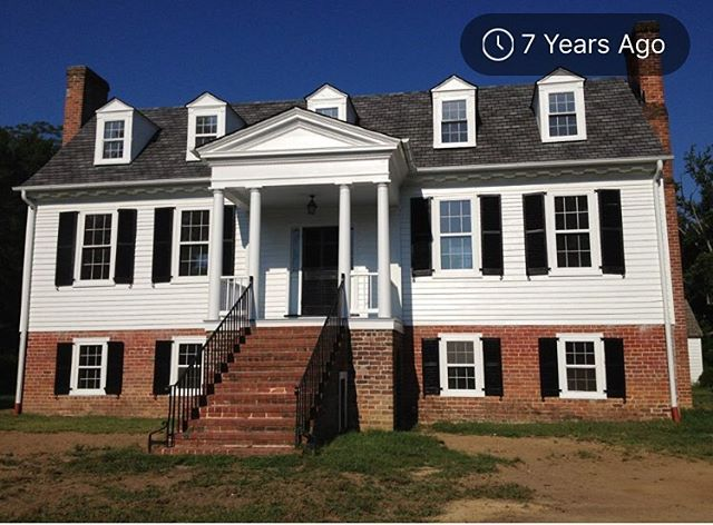 Wow! Exactly 7 years ago we completed the restoration of @whiteplainsfarm. This photo was taken before we installed the driveway, sidewalks, and landscaping. The next family can rest assured that this beautiful place is in excellent condition! We have put so much effort and heart into returning this #historichome to its' former glory. #historichomeforsale