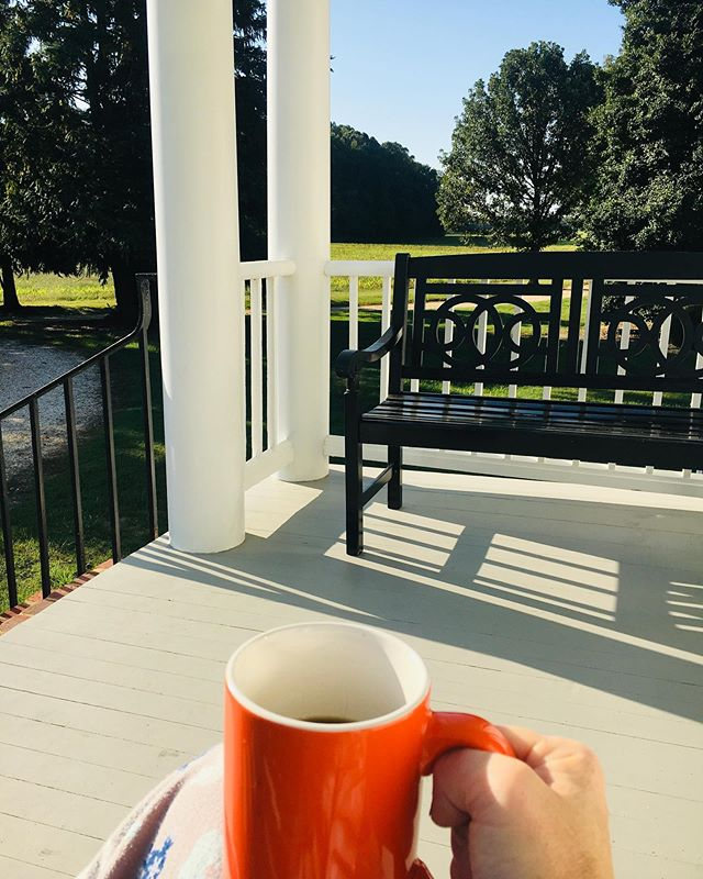 Not a bad spot for morning #coffee. #view #historichome #whiteplainsfarm