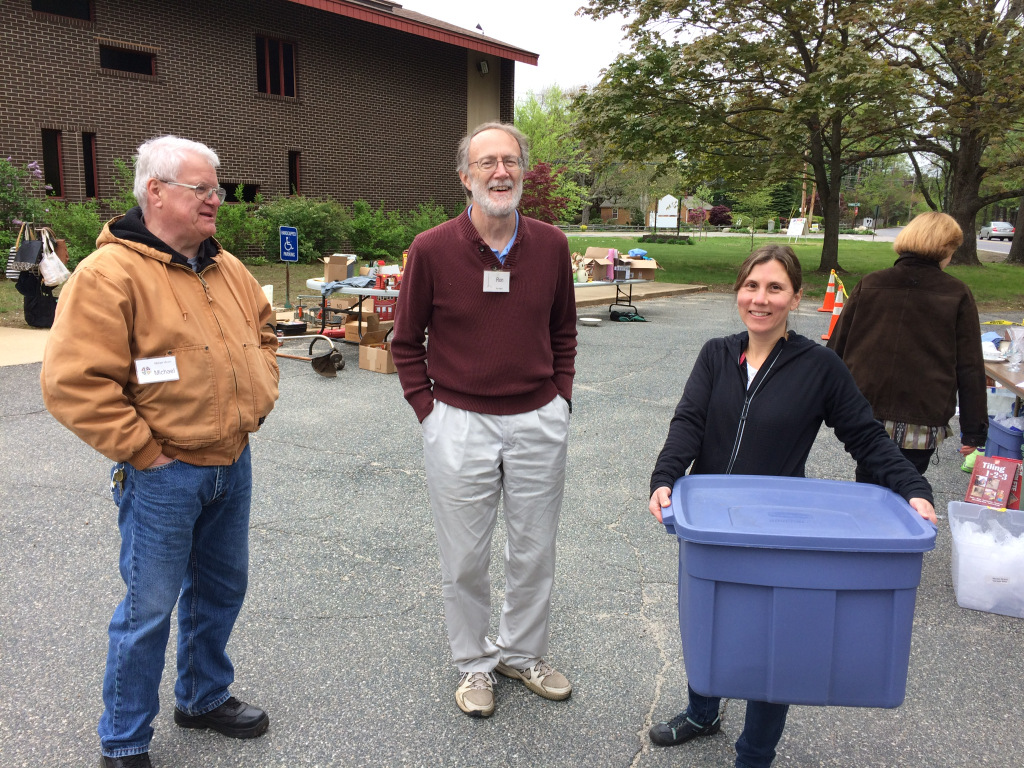 Workers at the St. John yard sale. All proceeds were donated to hunger initiatives.