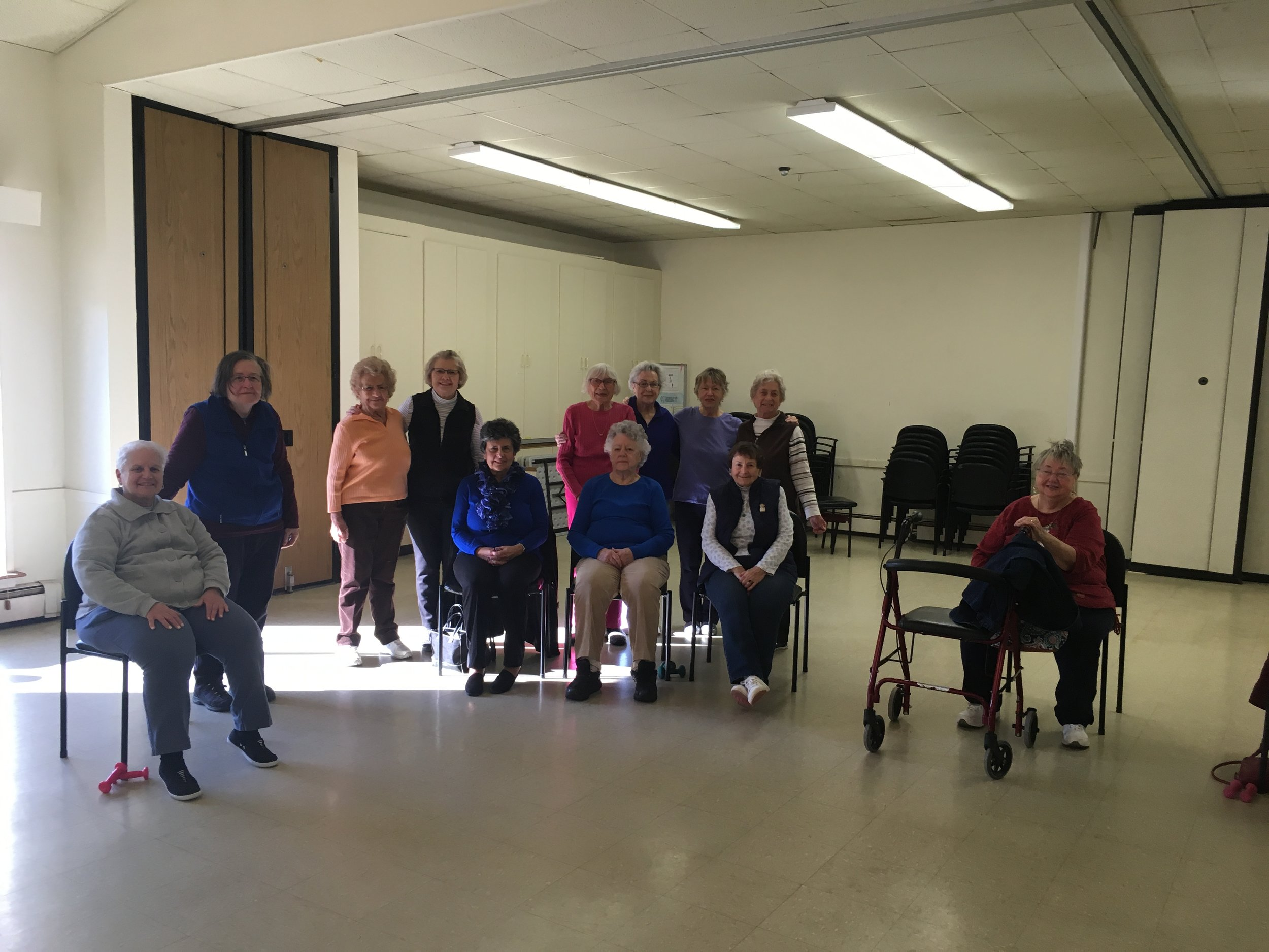 Some of our Senior Exercise class participants!