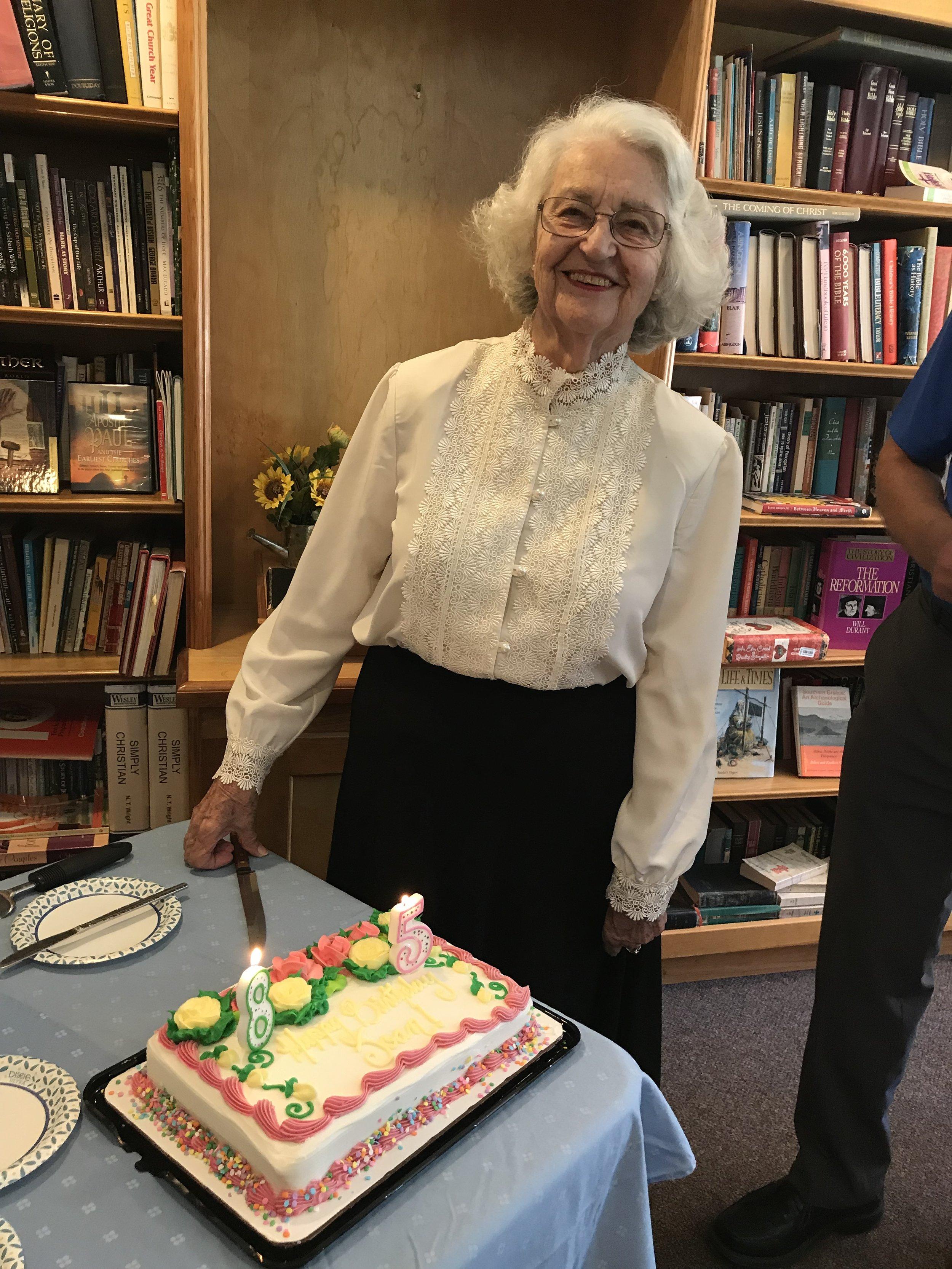 Our dear member Joan celebrating her 85th birthday!