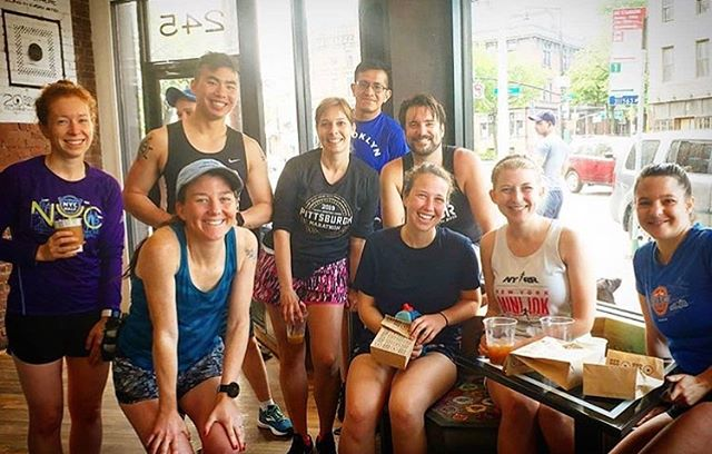 Victory was had at the #PopularBKHalf yesterday and today these Sunday Funday champs had doughnuts to celebrate! 📸 @jenerrz  #NorthBrooklynRunners #Brooklyn #Run #Running #Runners #Fitness #Doughnuts #Williamsburg #PostRaceFeels
