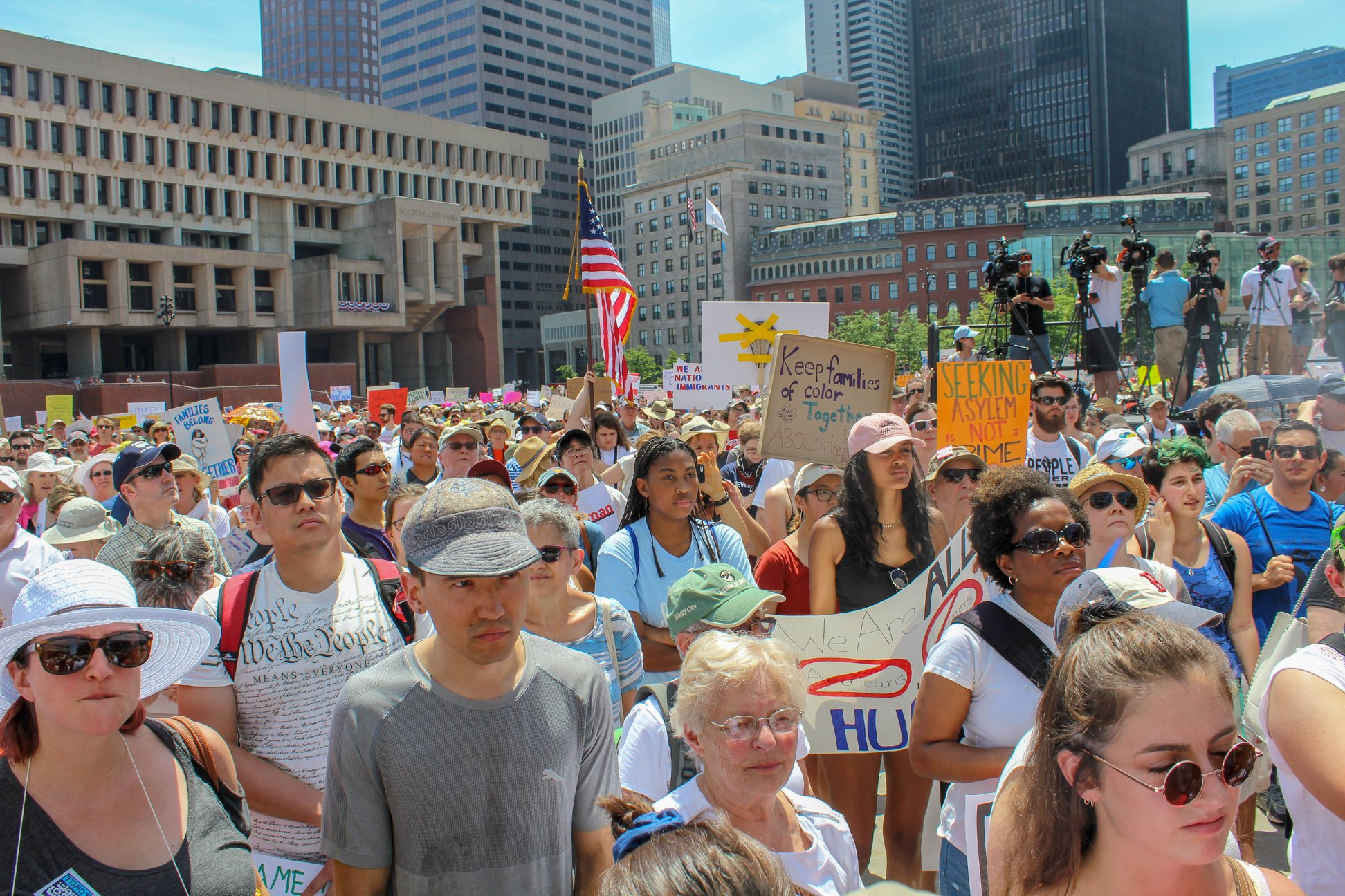 Together & Free Rally, June 30, 2018, City Hall Plaza, Boston, MA