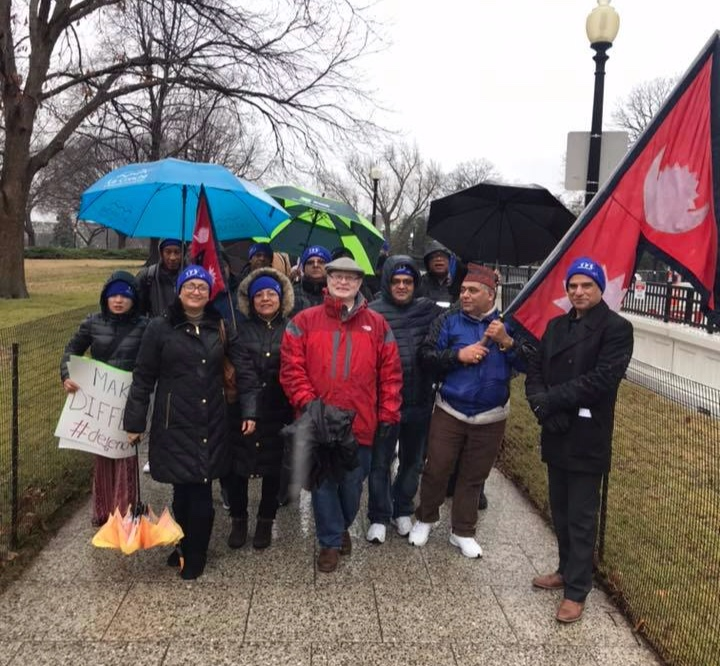 Nepalese TPS marchers