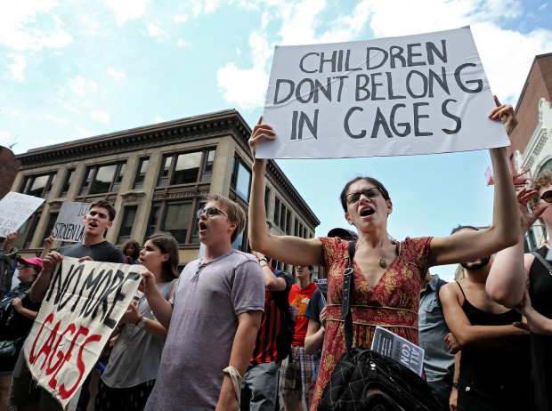 JwJ at the No Cages Rally, Sunday August 4, 2019