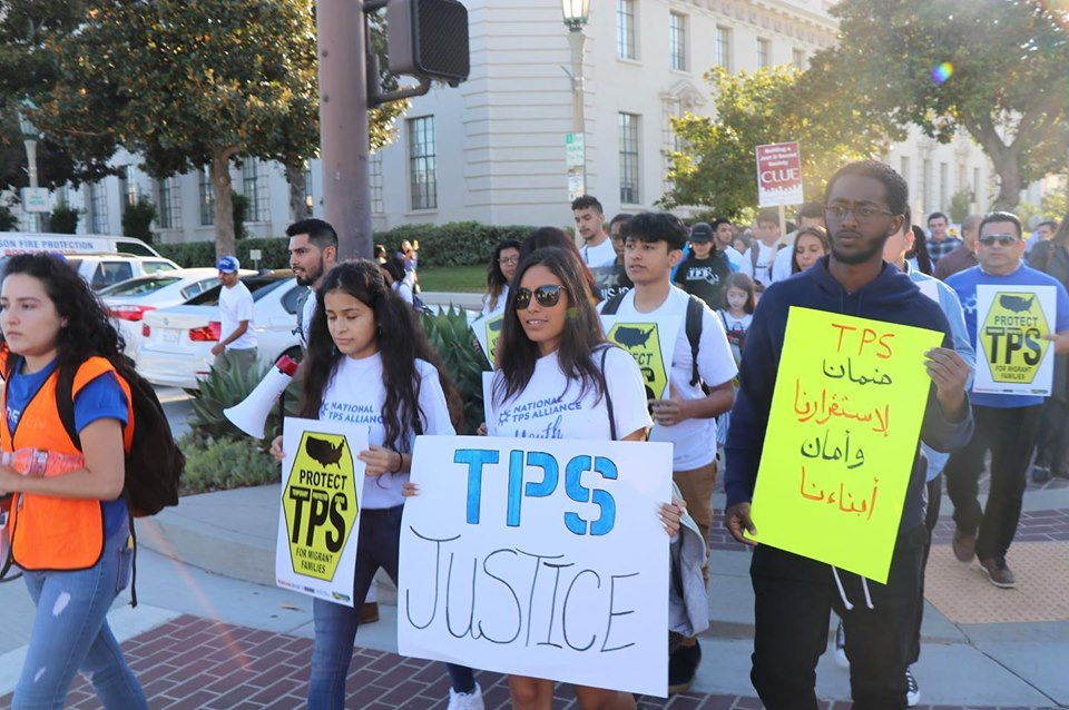 August 14, 2019 Pasadena, California TPS youth rally before hearing