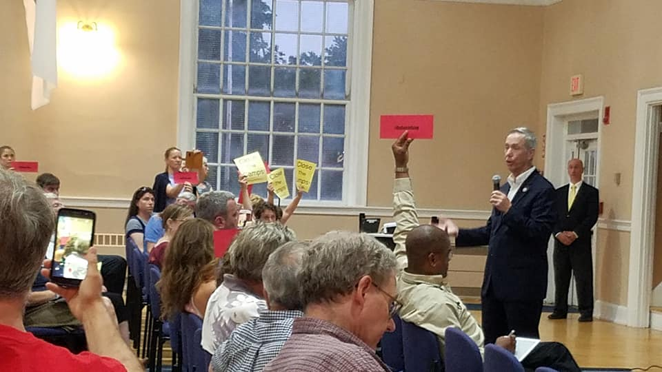 Rep. Lynch addresses his constituents on August 22, 2019