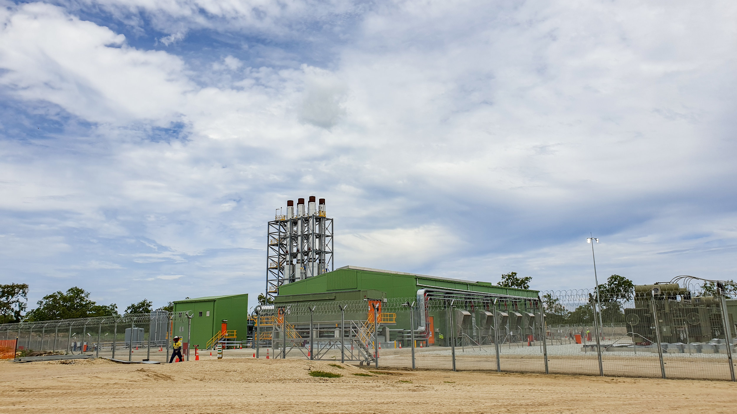 Port Moresby's gas-fired power station near Papa Lealea outside the city.