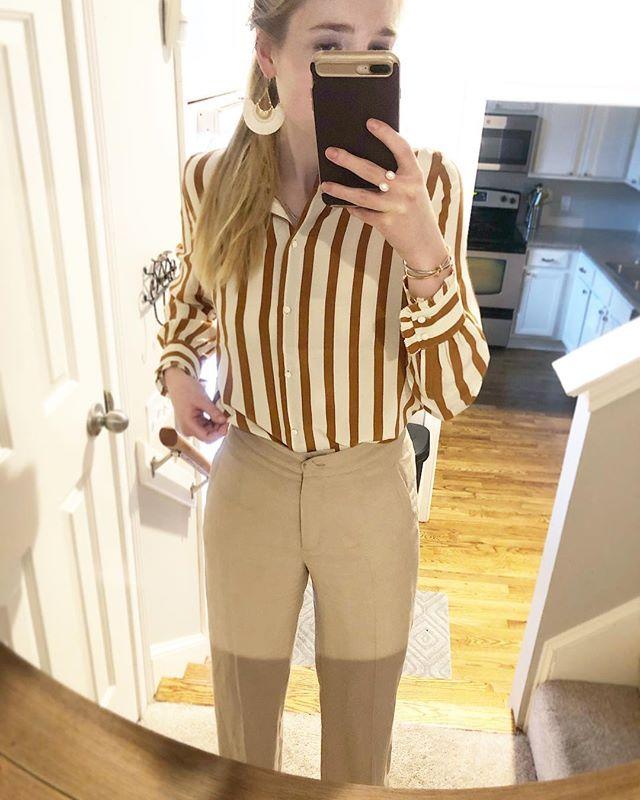 #ootd *Sezane Cuzco shirt *Sezane martin trousers . . . . . #neutralstyle #parisianstyle #neutralstyle #springstyle #consciousstyle #discoverunder10k #choosewell #frenchstyle #lookdujour #fashion #outfitoftheday #lookoftheday #minimalist #minimalstyle #workwear #buylessbuybetter #parisianvibes #minimaloutfit #sustainablestyle #sustainablefashion #slowfashionmovement #slowfashion #neutrals #minimaloutfit #sezane #sezanette #sezanegirls #parisianstreetstyle