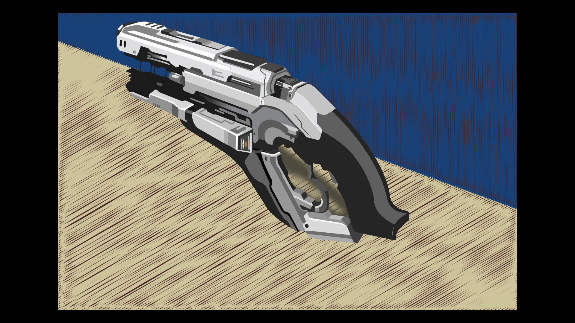 Adobe Illustration Design, Rendered from Weapon Design Illustration in Rapid Illustration Course