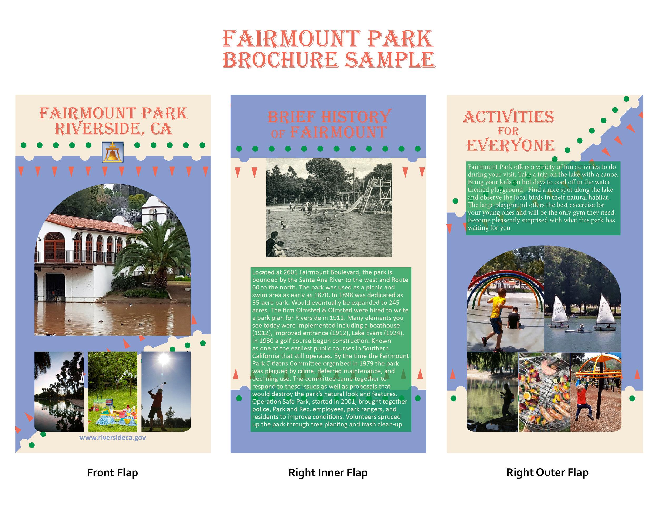 Park Brochure Sample, Rendered in Illustrator & InDesign