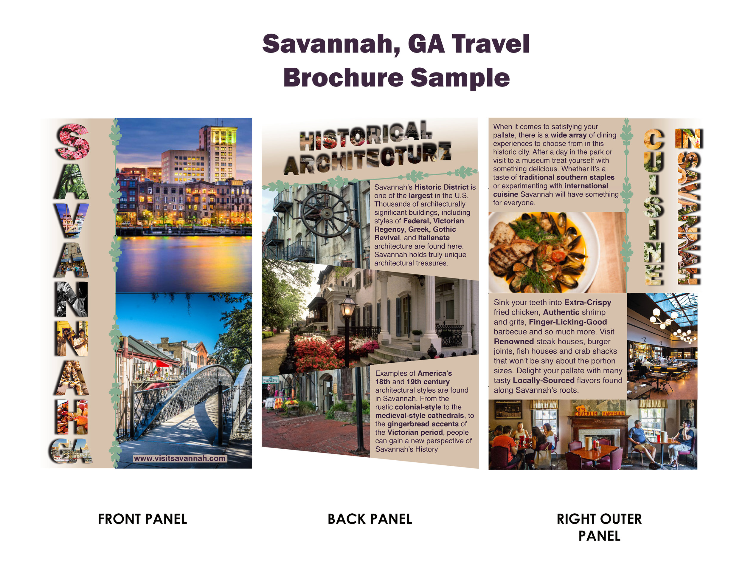 Brochure Sample, Rendered in Illustrator, InDesign, and Photoshop