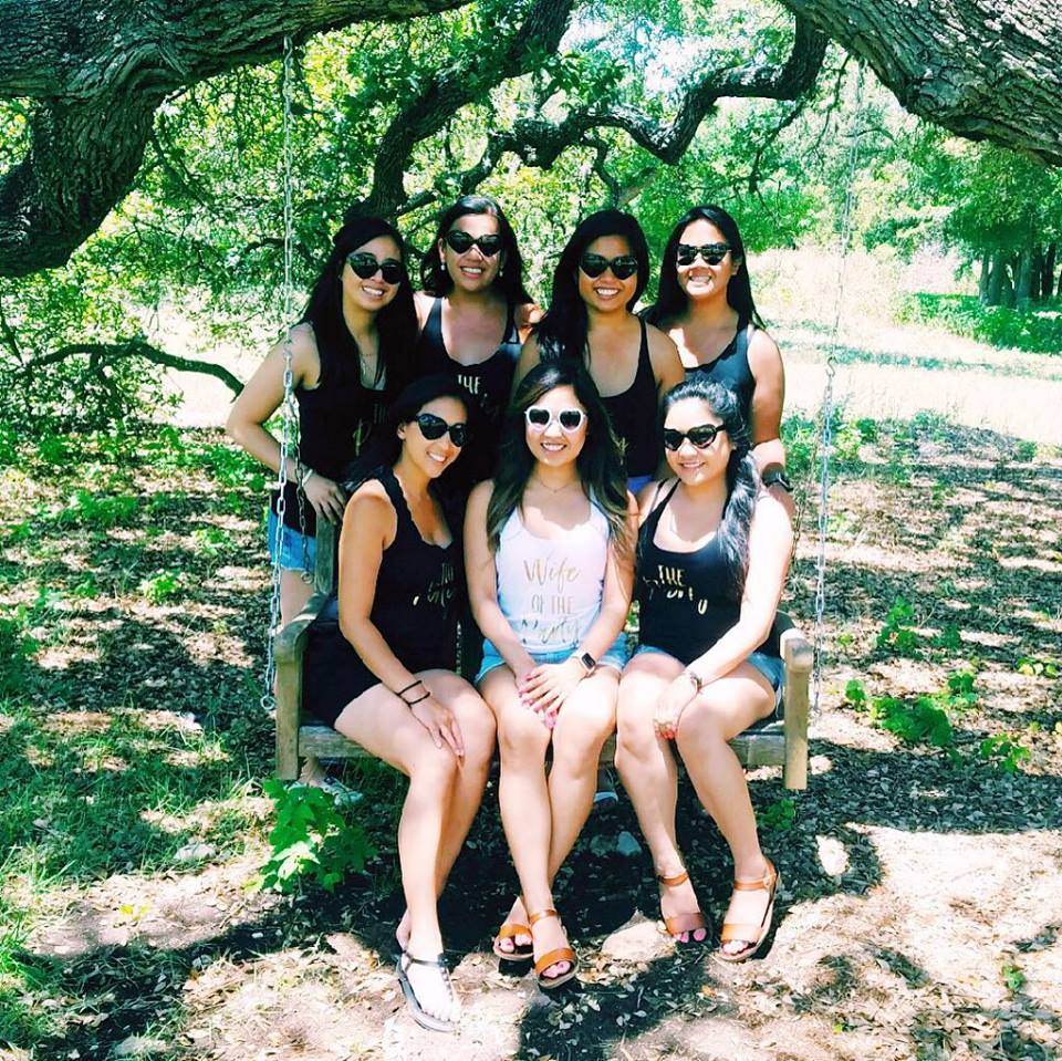 Bachelorette party at Bell Springs Winery