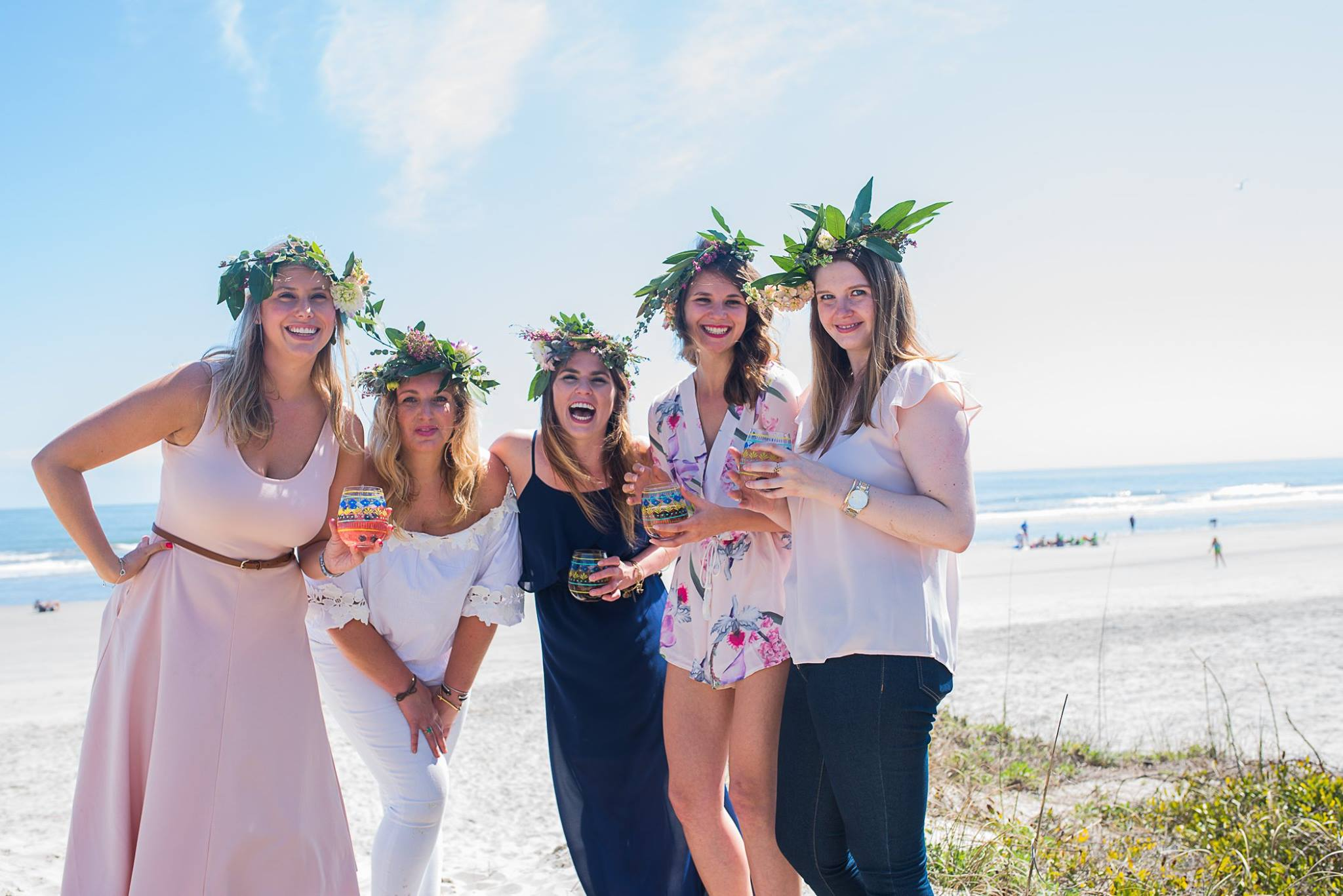 Fetes de Fleurs - Fetes de Fleurs is a flower party business prefect for bachelorette parties and ladies' weekends! The most popular package and workshop offered is the flower crown party. A flower party host will come to your rental or on site at select wineries to set up a flower bar with beautiful flowers and greenery. You will learn through a workshop on how to make flower crowns, then the flower crowns are yours to wear!Price: $40/person for pre-made crown and ready for you$55/person for personal flower crown workshop May be subject to additional fees