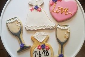 Sweets from the Sol - Sweets from the Sol is a home based bakery located in Kyle Texas, providing mouth watering cookies using a family recipe and topped with their signature royal icing. Offering amazing customized cookies for any event. Great for bachelorette parties!Pricing: $30-35/dozen cookies
