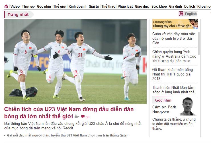 Vnexpress.vn - 14/15 bài mới về U23