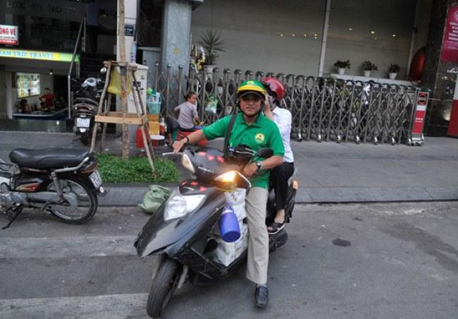 Mai Linh Bike hoạt động trên đường Mai Thị Lựu, quận 1, TPHCM. Ảnh: CAO THĂNG