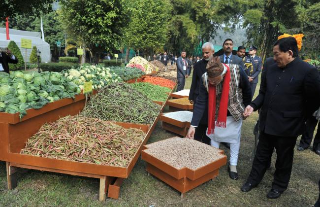 Thủ tướng Narendra Modi đã đến thăm bang Sikkim vào tháng 1, công bố thành quả đạt được 100% nông nghiệp hữu cơ