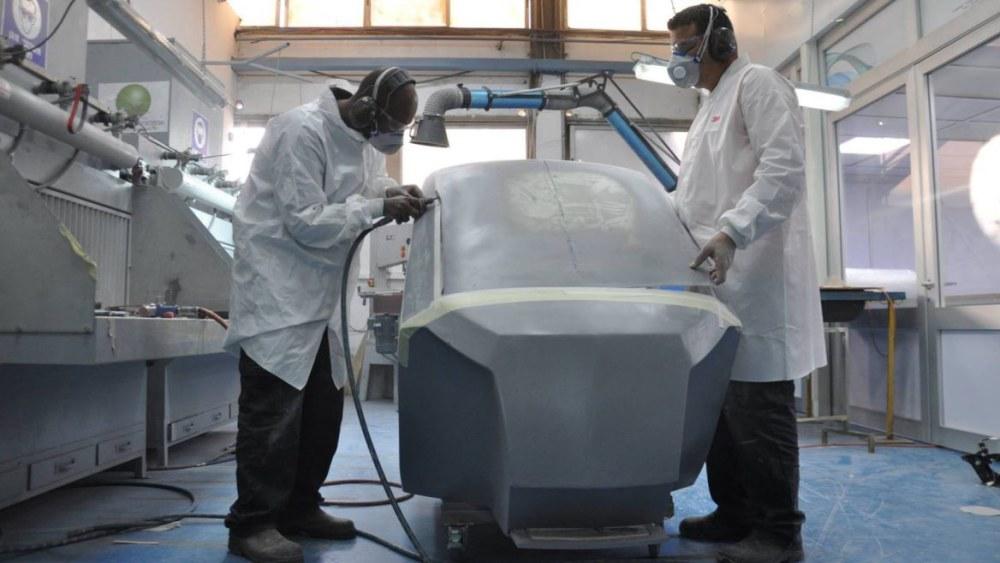 Concept xe tự thu gọn diện tích của City Transformer đang đươc lắp ráp tại nhà máy của Startup ở Petah Tikva, Israel.
