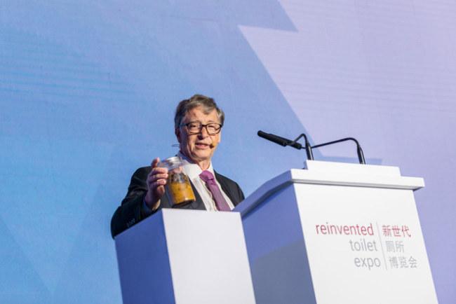 Tỷ phú Bill Gates rất tâm huyết với việc phát minh lại bồn cầu và xử lý chất thải