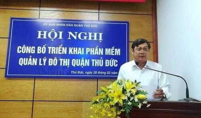 Đồng chí Đặng Nguyễn Thanh Minh, Phó Bí thư Quận ủy, Chủ tịch UBND quận chủ trì hội nghị.
