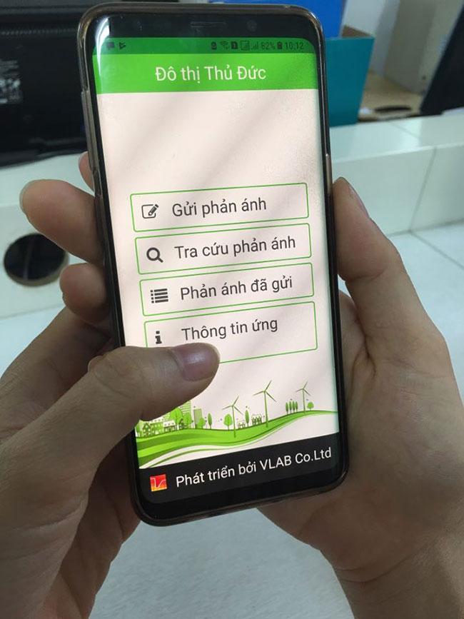 Người dân có thể gửi và tra cứu trực tiếp phản ánh đã gửi trên ứng dụng Đô thị Thủ Đức này.