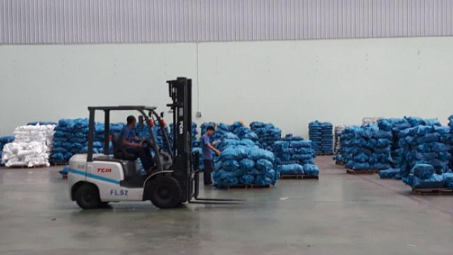 Khu chứa vật liệu của Công ty Nhựa Bình Minh