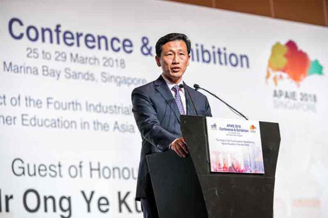 Bộ trưởng Giáo dục Singapore - ông Ong Ye Kung cho rằng cải cách giáo dục là một phần quan trọng trong việc phát triển nền kinh tế 4.0.