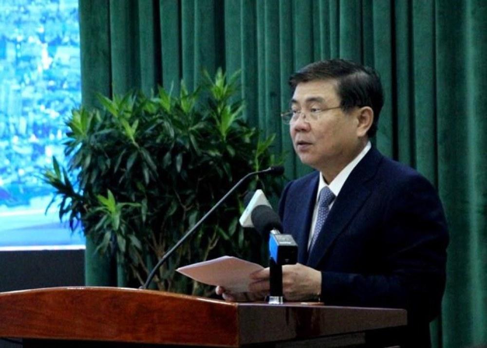 Chủ tịch Nguyễn Thành Phong phát biểu. Ảnh: TÁ LÂM
