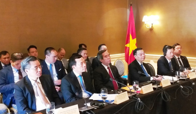 """Ban Kinh tế trung ương, Bộ Khoa học và Công nghệ (KH&CN), Tổng Lãnh sự quán Việt Nam…tại buổi """"Tọa đàm đối thoại với các doanh nghiệp công nghệ của Hoa Kỳ""""."""