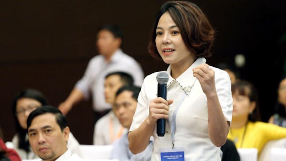 Bà Trịnh Thị Thu Hà, Phó hiệu trưởng trường Cao đẳng Thương mại và du lịch Hà Nội