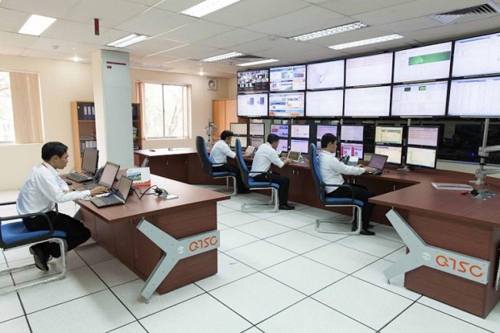 Trung tâm điều hành hoạt động của Công viên phần mềm Quang Trung. Ảnh: Hà Thế An.