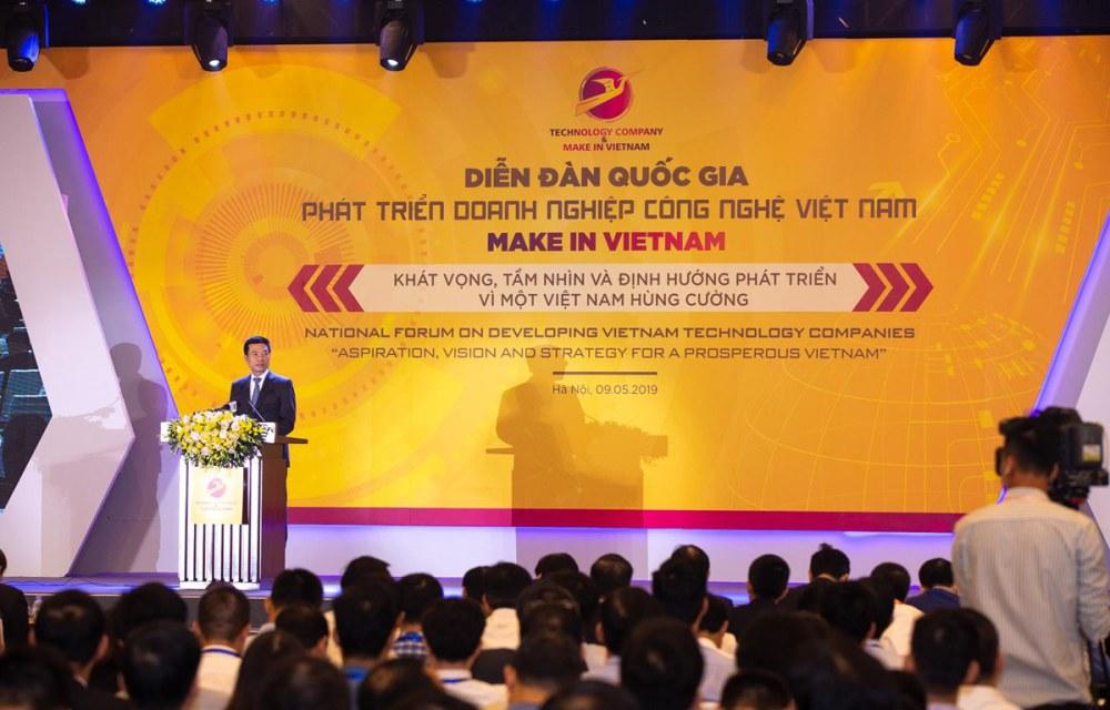 Bộ trưởng Nguyễn Mạnh Hùng phát biểu tại sự kiện. (Ảnh: Minh Sơn/Vietnam+)