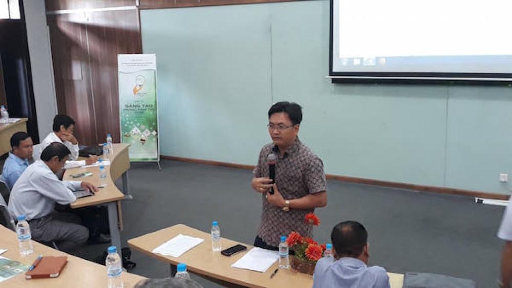 Ông Phạm Xuân Đà giới thiệu về mục đích, ý nghĩa và thể lệ cuộc thi