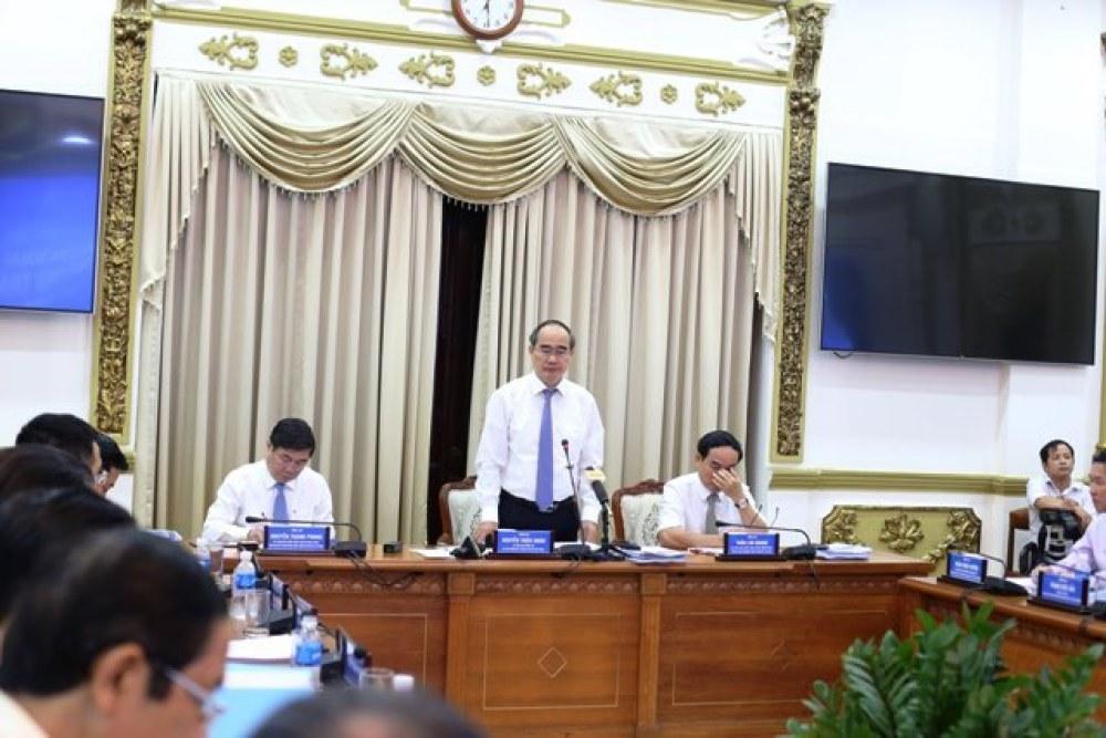 Bí thư Nguyễn Thiện Nhân phát biểu chỉ đạo hội nghị.