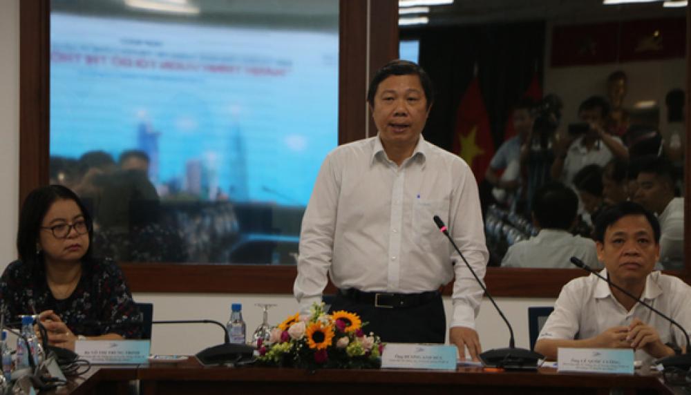 Ông Dương Anh Đức - giám đốc Sở Thông tin - Truyền thông - Ảnh: TRỌNG NHÂN