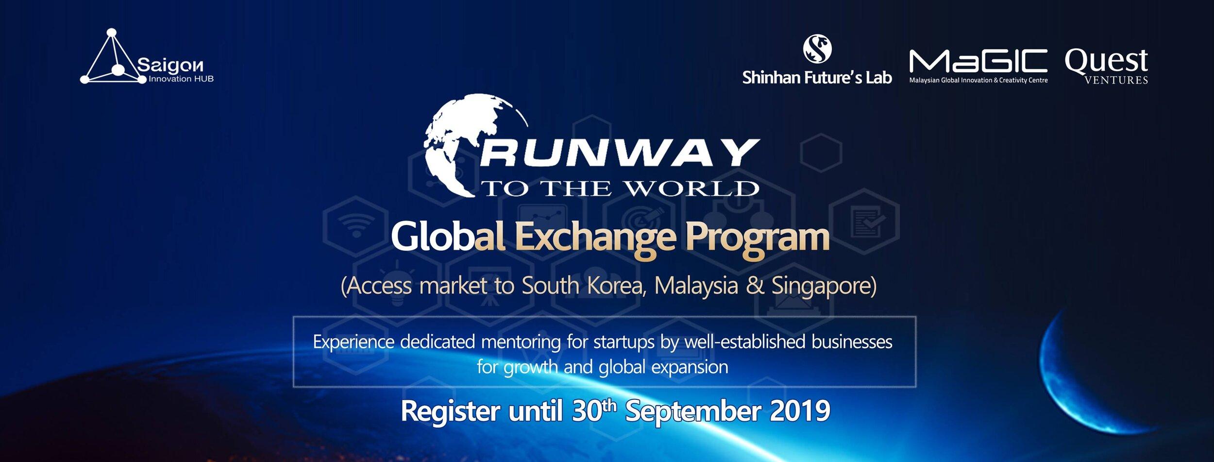 SIHUB và các đối tác đang tuyển chọn các startup tham gia Runway To The World mùa 1 năm 2018.