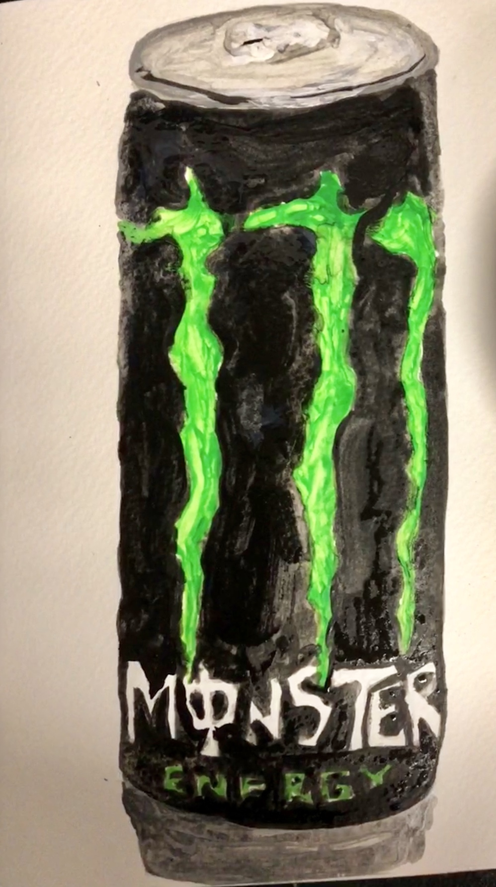 "CAFFEINATED SERIES: MONSTER ENERGY DRINK ACRYLIC-8"" 1/2"" X 10 1/2""- 2017-$250"