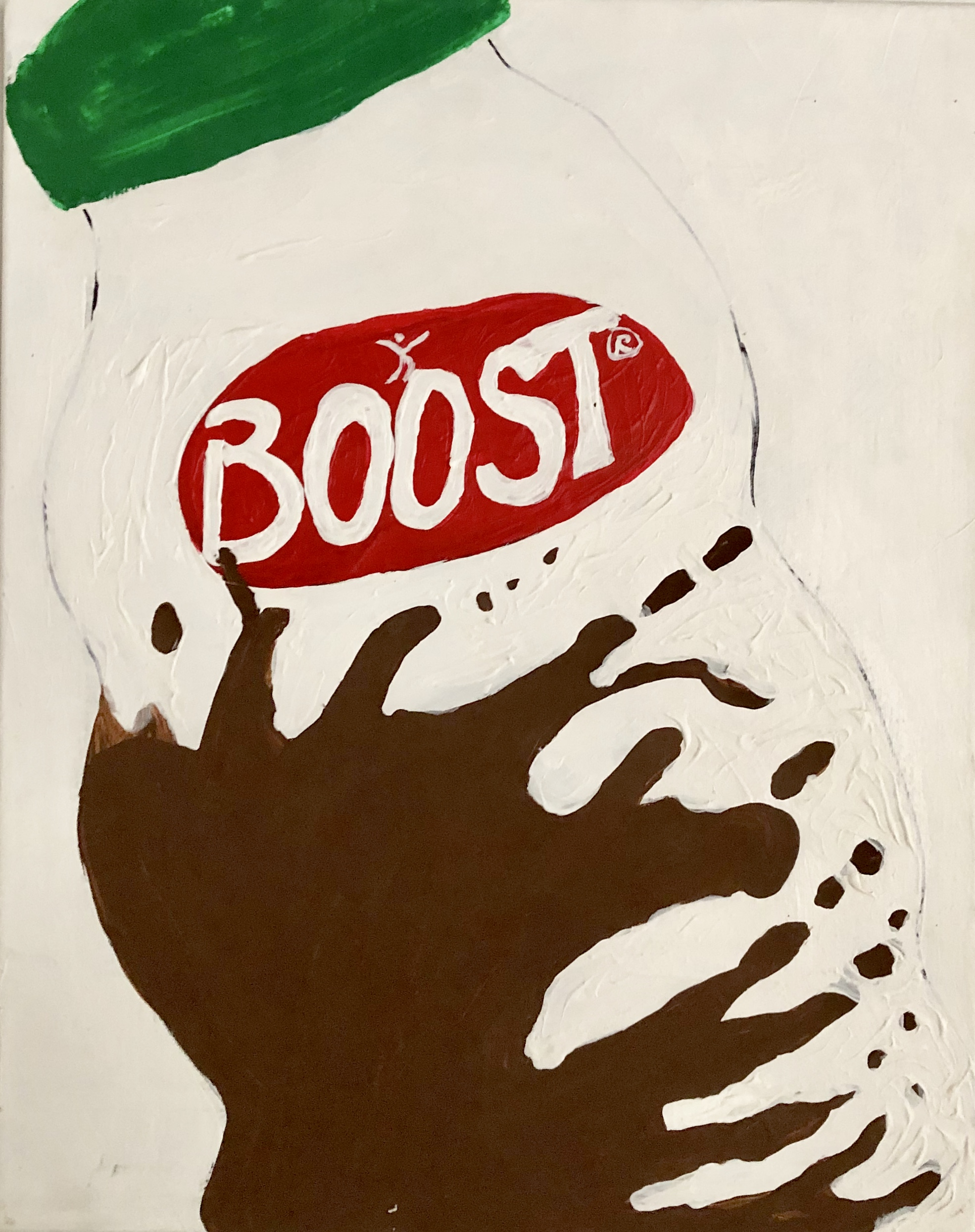 OVER THE COUNTER SERIES-BOOST (dedicated to Chuck McNally) -ACRYLIC-2018-FUCANCER