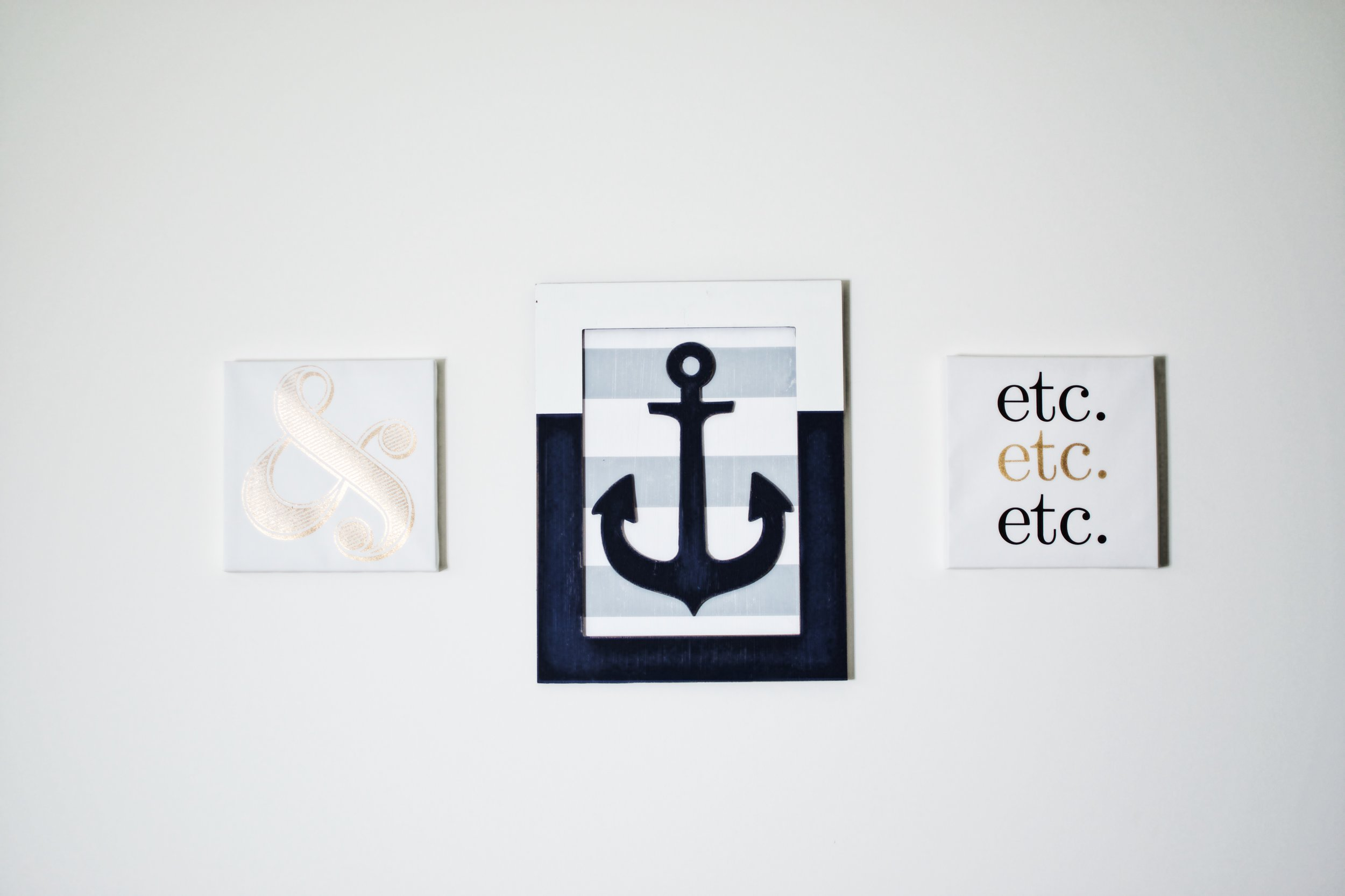 anchor ampersand etc and wall decoration and inspiration