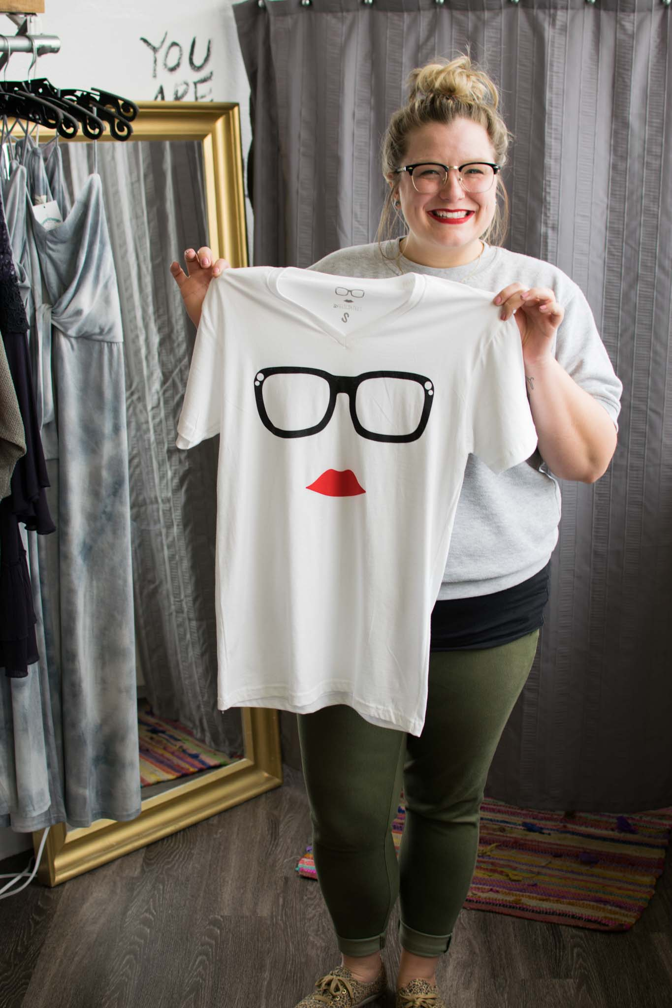 Felicia also created Felicia Tees, this one she designed after herself!