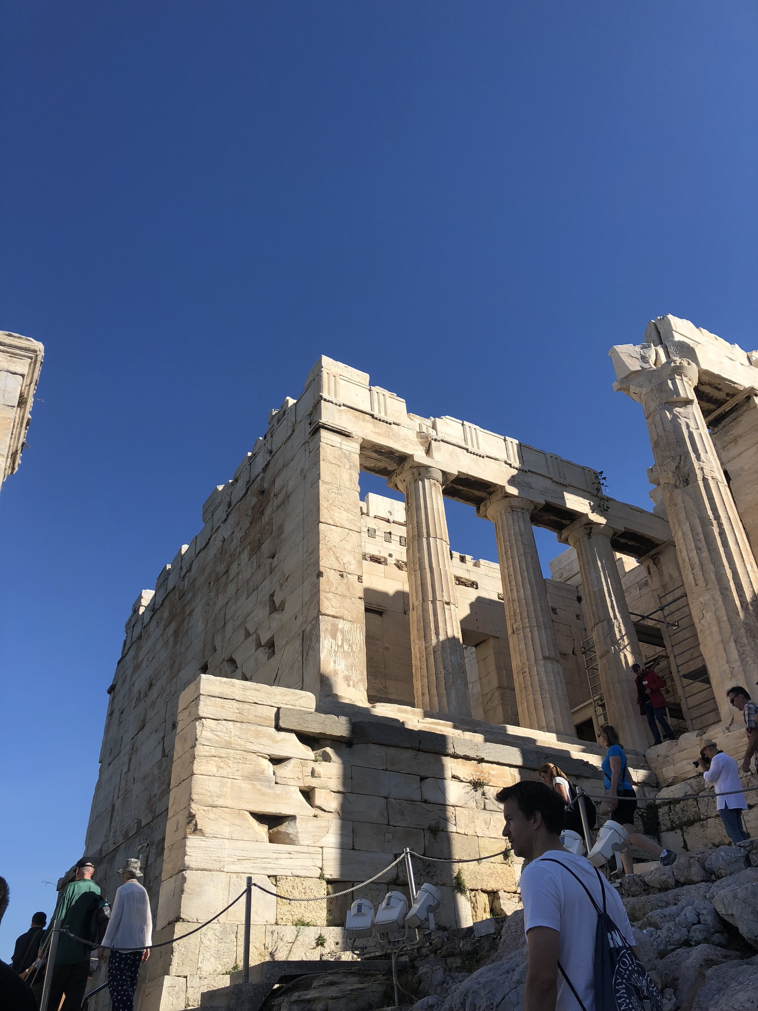 Left Side of the Propylaea Entrance