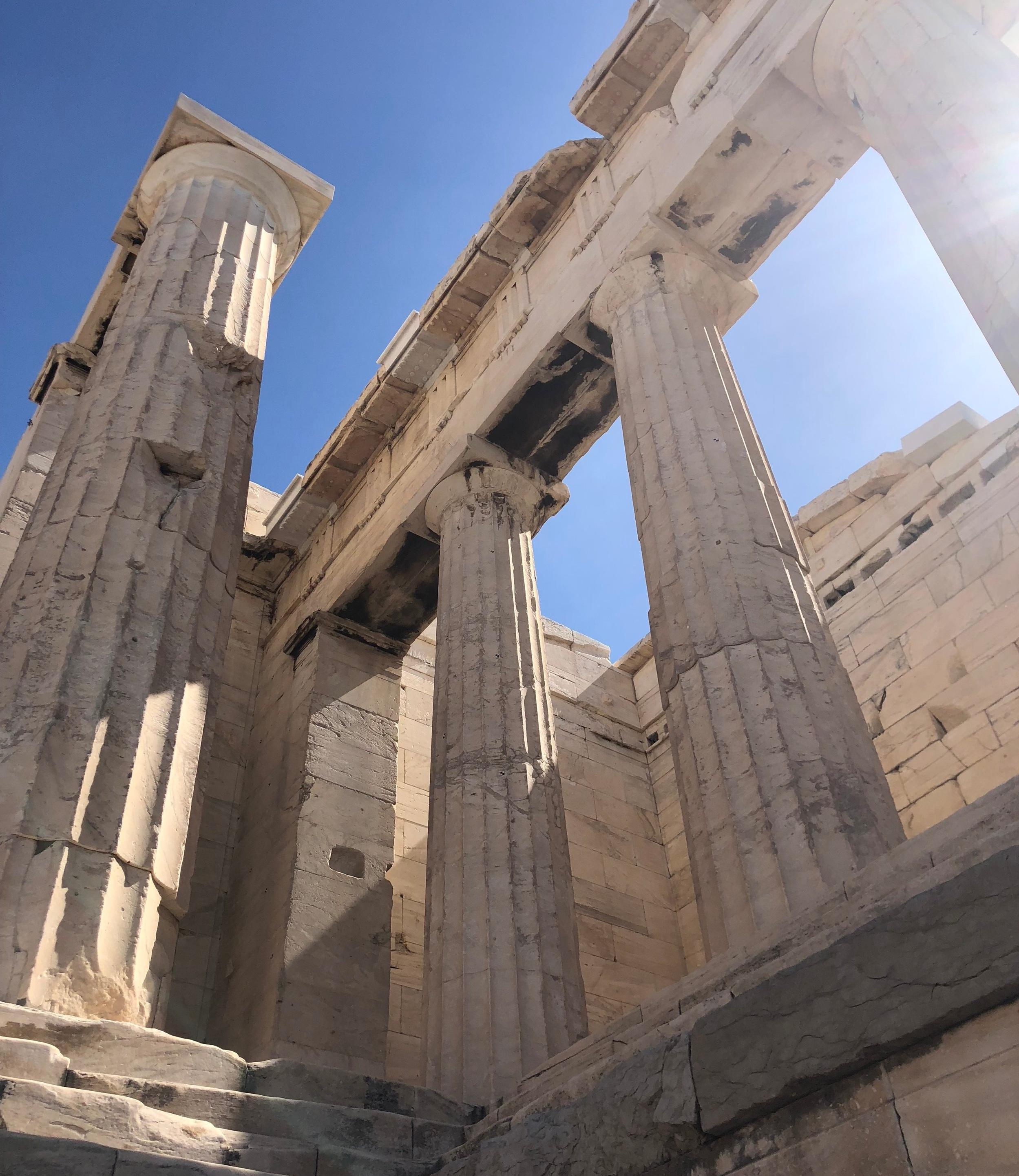 Doric Column Capitals in the Propylaea