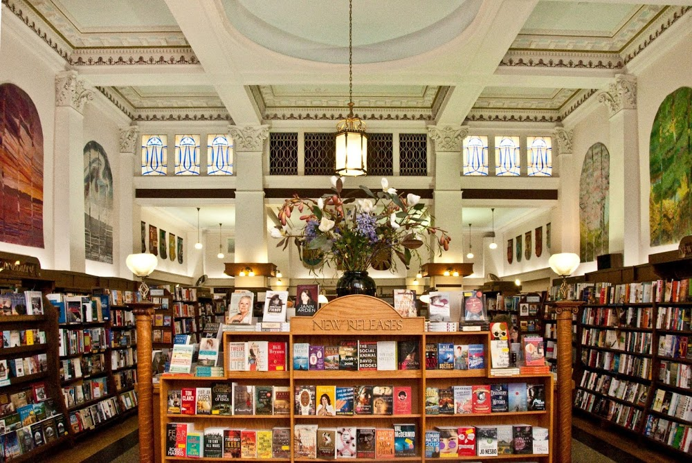 "Just look at this beautiful bookstore! Don't you want to help them and me? (They're on a lot of ""Most Beautiful Bookstore""  lists , you know)"