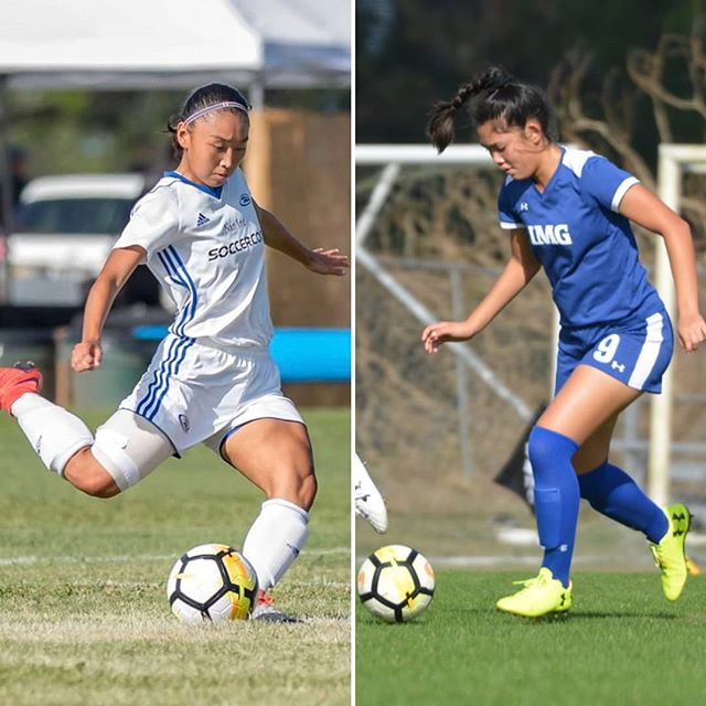 2018 id² National Selection Girls - HAWAII RUSH SC'S RAINE KOMATA & NOMAD SOCCER ACADEMY'S DOLCE VILLAFLOR