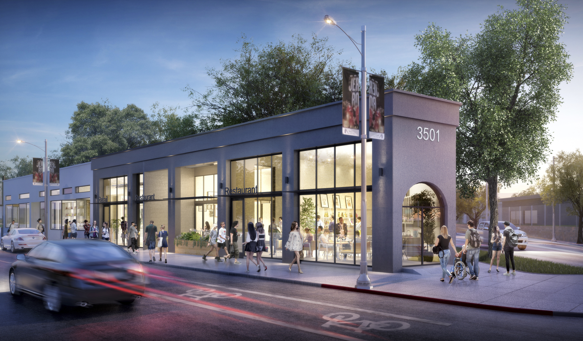 Rendering of 3501 W Sunset Blvd