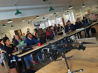 drone camp:cape town - A group of South African journalists and civil rights organizations tackled questions such as: When and how can drones be used to improve storytelling? What are the rules that apply in different jurisdictions? This was South Africa's first drone camp, a three-day, hands-on event in Cape Town organized by ICFJ Knight Fellow Chris Roper. The 30 participants included journalists from 12 of South Africa's leading media outlets, and for most, it was their first time flying the unmanned aircraft.
