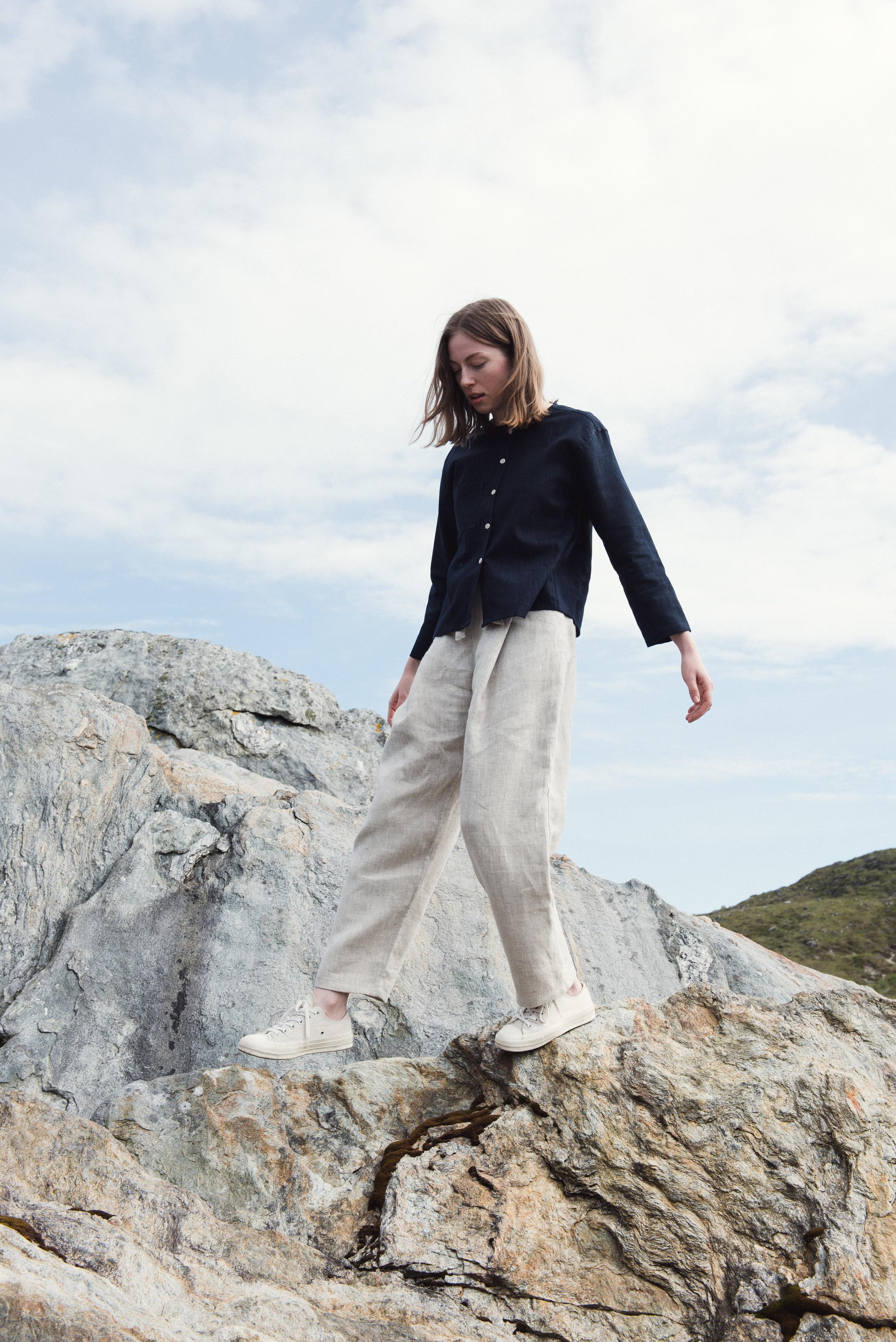 Shirt: Patti Trousers: Linen Twill Hakama